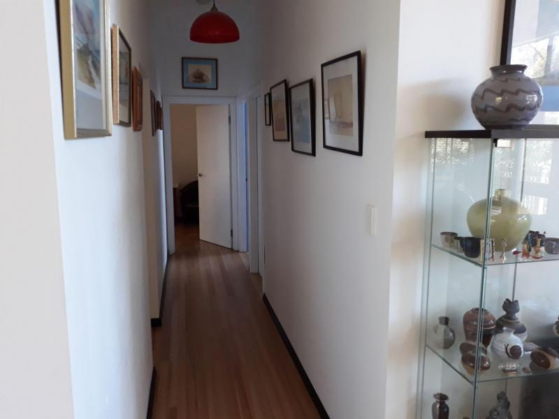 Hallway to homestay bathrooms