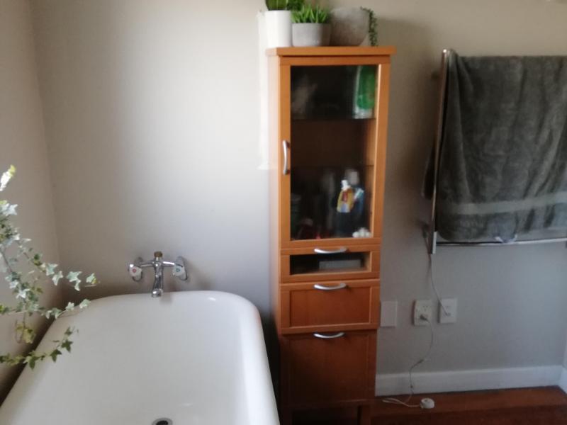 Bath, shower and heated towel rail