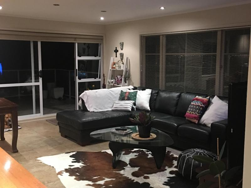 Upstairs open plan living - living area