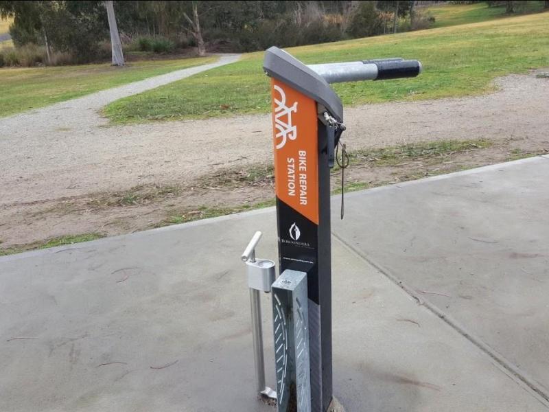 Bike Repair Station in the park
