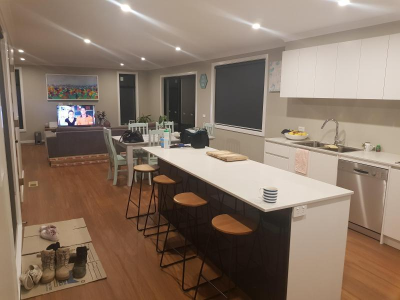 Large open plan kitchen/living area
