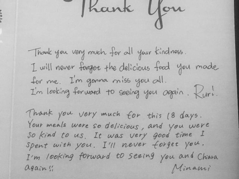 One of our thank you cards....