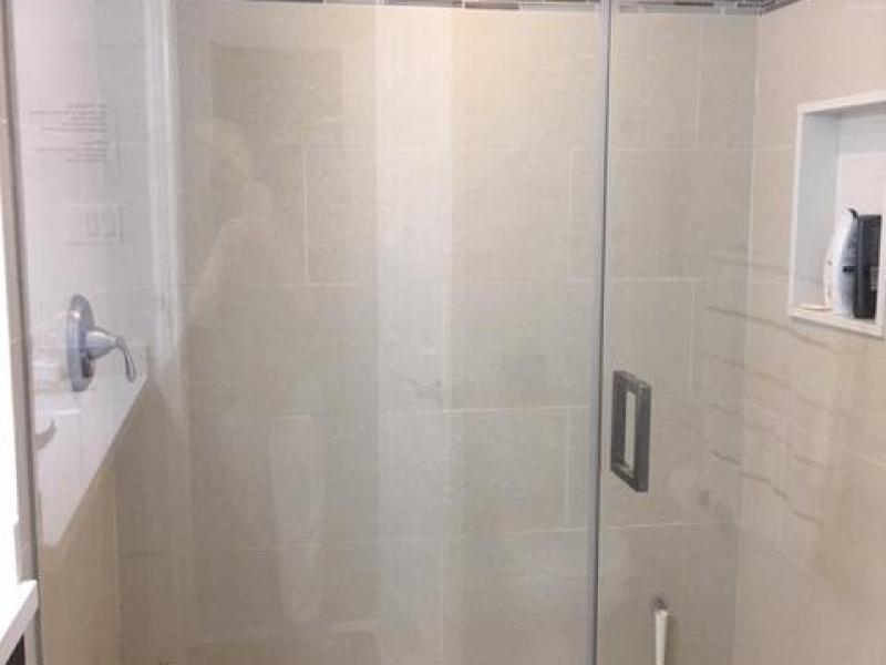Shared bathroom shower