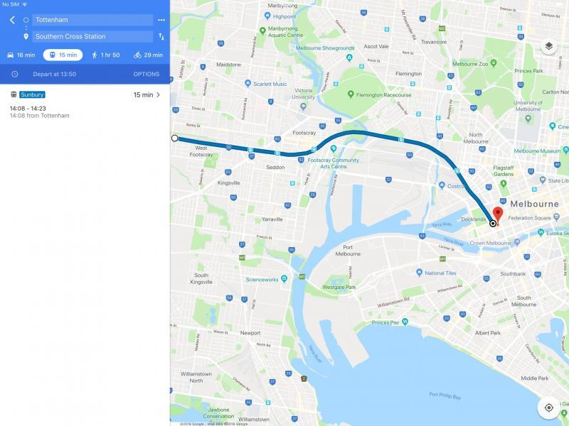 Map to Melbourne