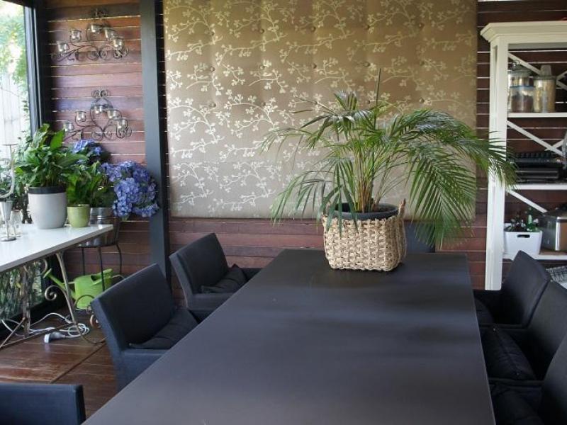 Summer patio meals area