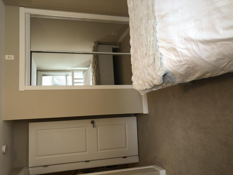 Closet with full length mirror