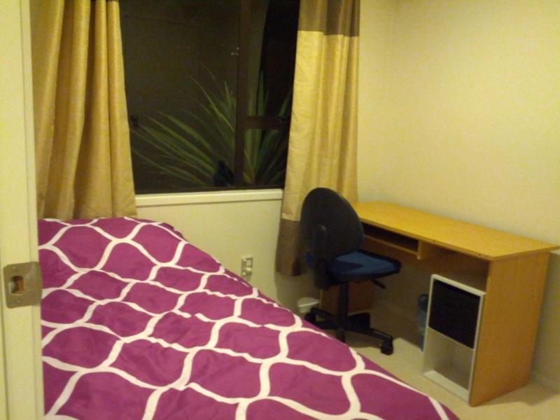ROOM 3: A single bed + study desk + chair + Wardrobe + Bedside Cabinet.
