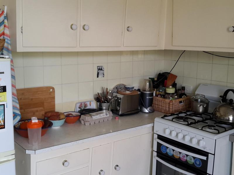 Small kitchen, but is clean and has everything needed for yummy food!