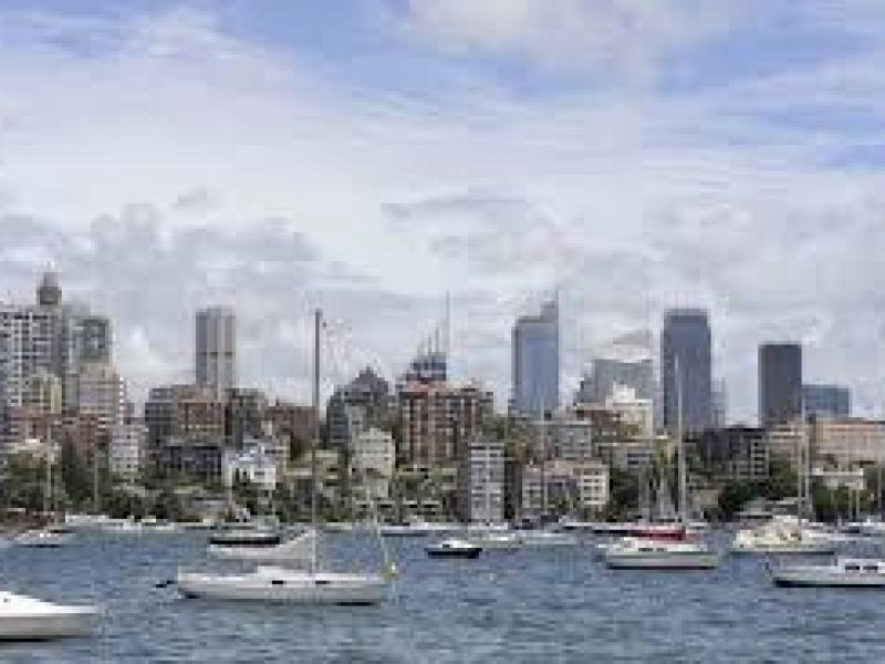 Rushcutters Bay Park on the corner of our home.
