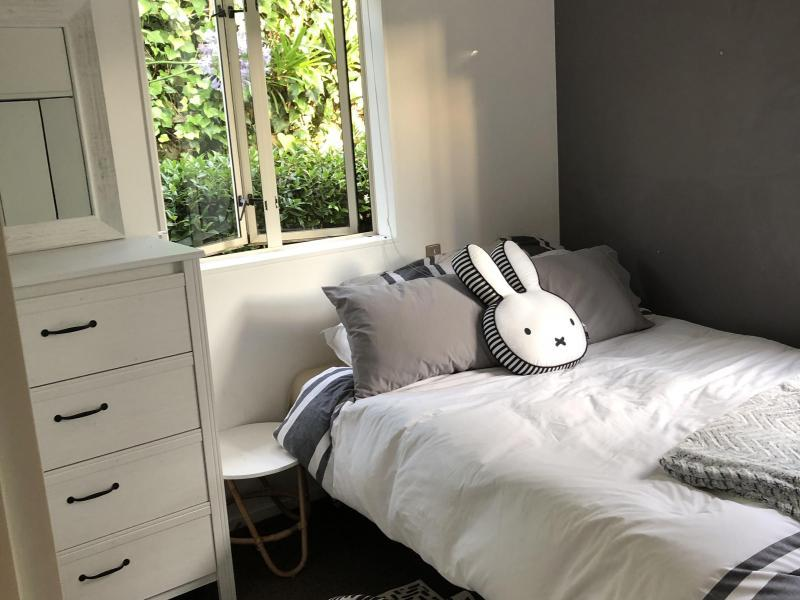 available room with double bed drawers, desk wardrobe all included