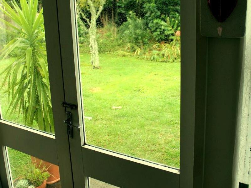 Doors to garden from lounge